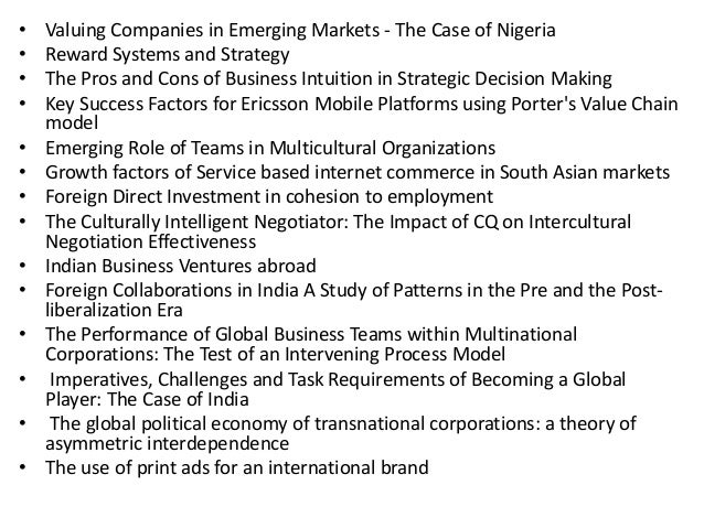 mgt448 global business strategies nigeria essay The essay section is the most important part of any application, see the types of essays successful applicants have used to apply to business school.