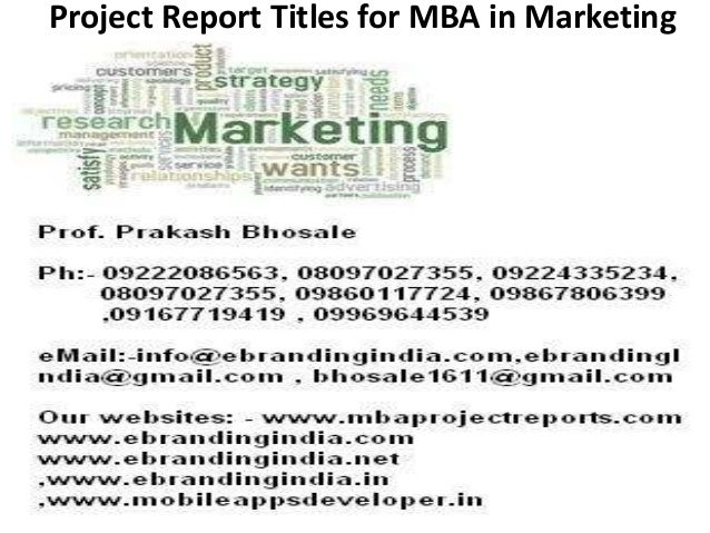 Dissertation For Mba Marketing