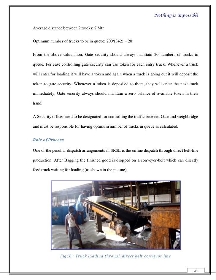 Project report on truck turnaround time