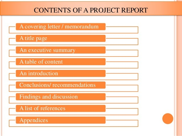 Project Report Writting Format