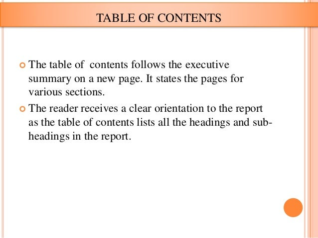 Project report writting format – Executive Summary Format for Project Report