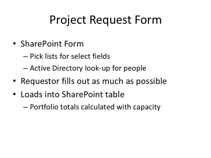 Project Request – Project Request Form