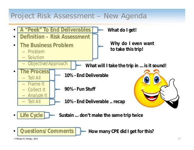 Project Risk Assessment Presentation Feb 2013