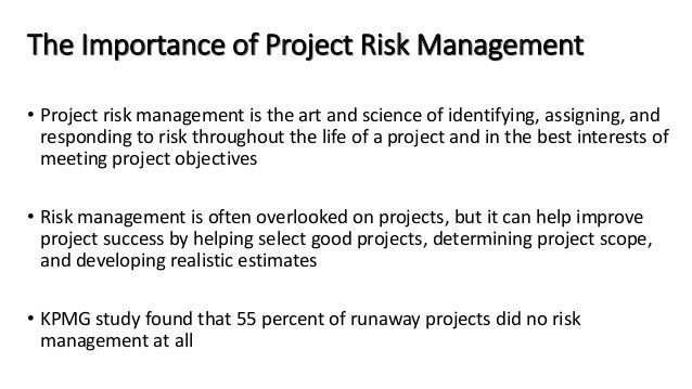 why do you think risks are often overlooked in project management Why do you think risks are often overlooked in project management please give an example to support your reasoning buy answer posted a question apr 03, 2016 at 10:11pm  project management- what methods should be used for identifying risks about this question status answered category general questions / college life.