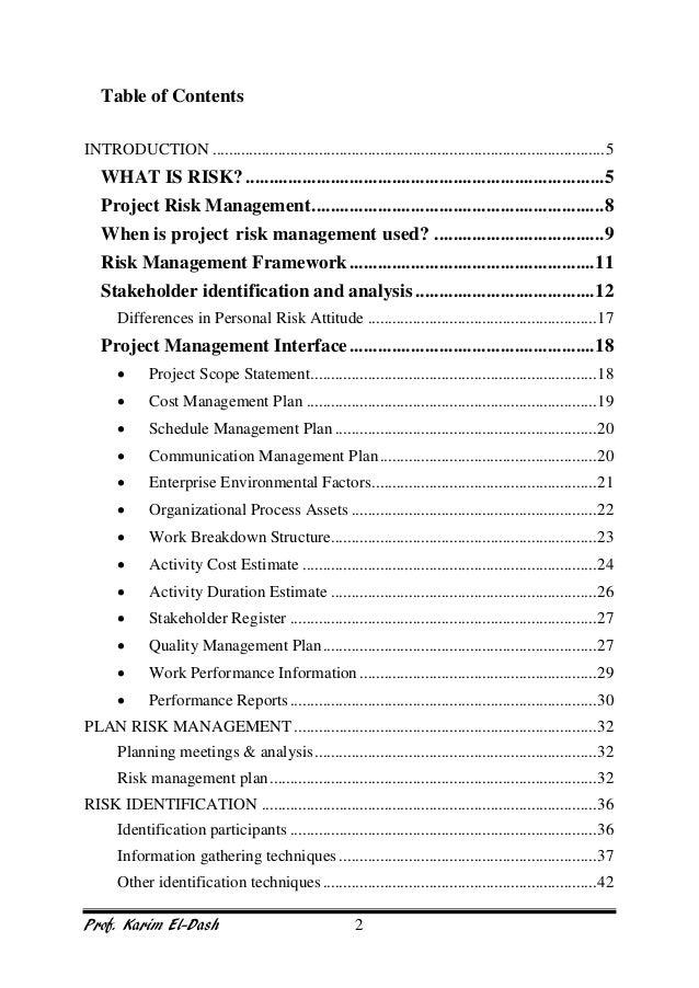 project risk management training manual rh slideshare net Mil 26 C- 17