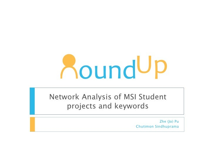 Network Analysis of MSI Student     projects and keywords                                   Zhe (Jo) Pu                   ...