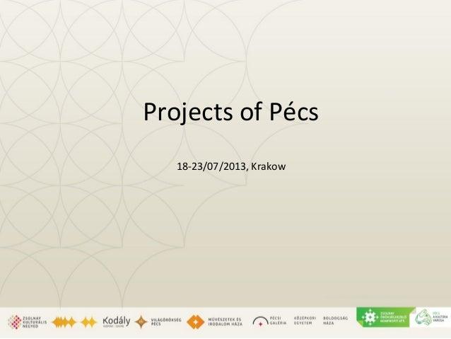 Projects of Pécs 18-23/07/2013, Krakow