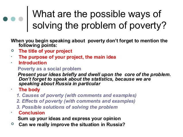 essay causes of poverty