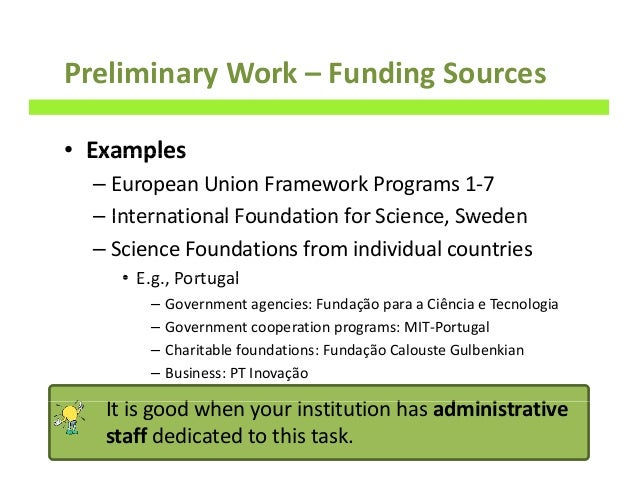 funding sources research opportunities