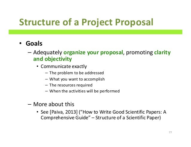 how to write good scientific project proposals a comprehensive guide structure of a project proposal