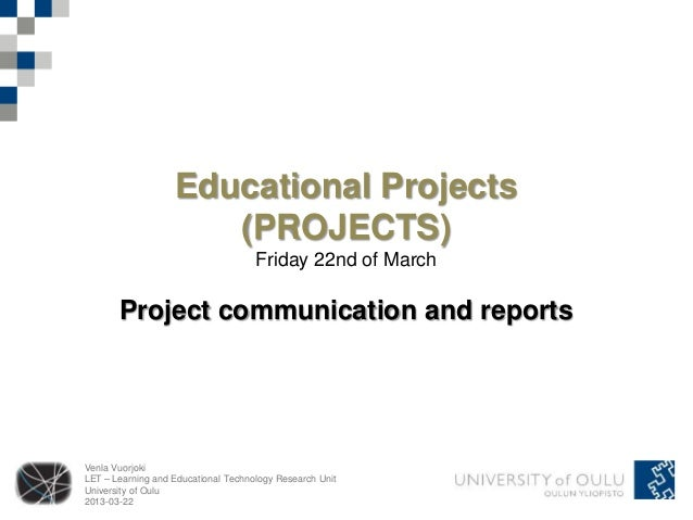 Educational Projects                      (PROJECTS)                                     Friday 22nd of March       Projec...