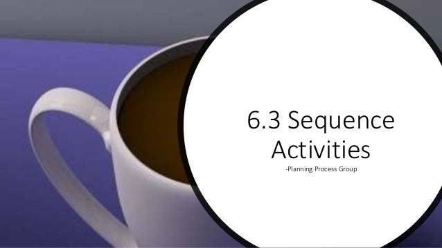 6.3 Sequence Activities-Planning Process Group
