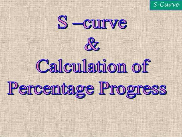Project Network Scheduling And S Curve