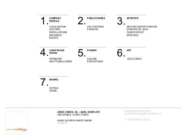 Catalogue Area Cubica : structures gonflables événementielles et sportives Slide 2