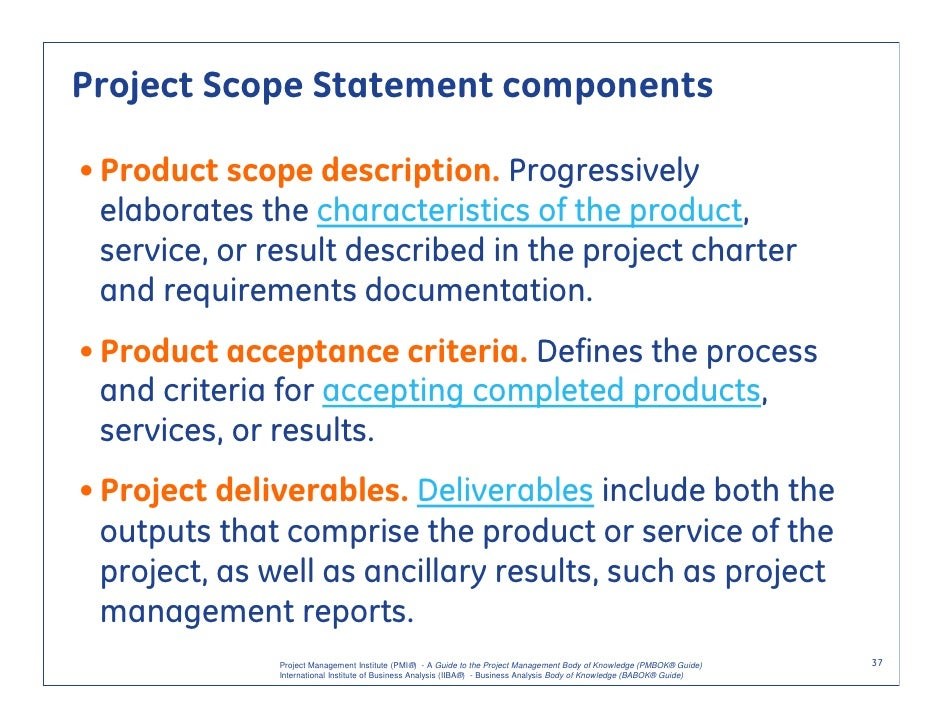 scope statement on construction project Know more about project scope management, its significance and benefits to a   of the scope statement, the wbs, and how the deliverables will be accepted.