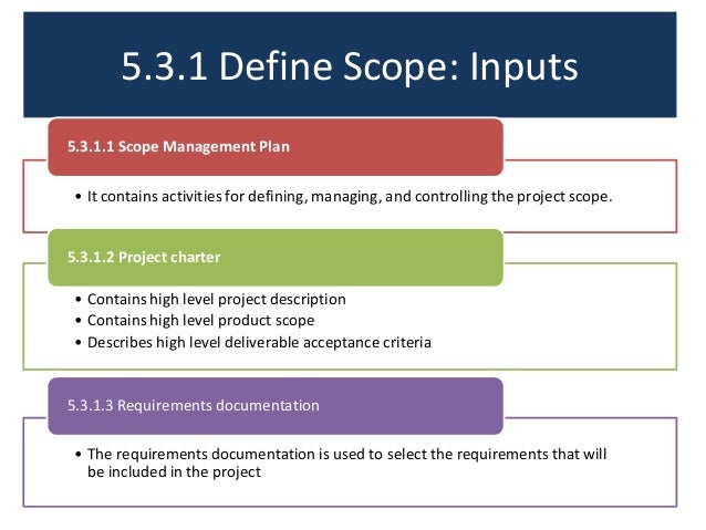 defining project scope Defining the scope of the project clearly is the first step towards project success how do you define, document and finalize the entire project scope find out for real projects and for pmp exam too.