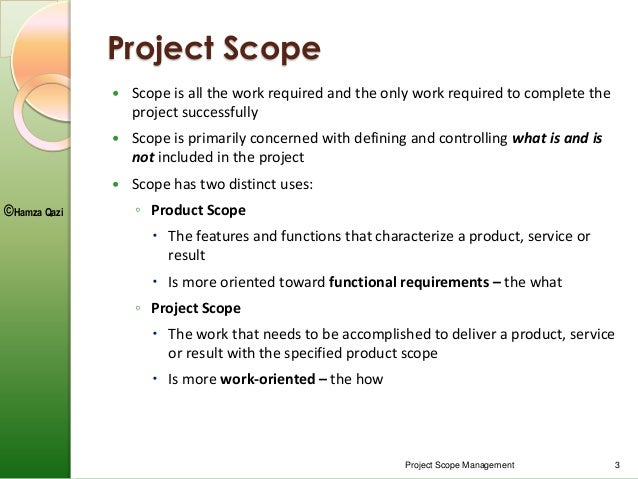 Project Scope Management 32864761 on what needs electricity to work