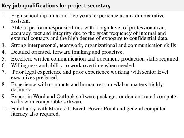 3. Key Job Qualifications ...  Job Qualifications