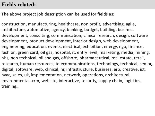 Project secretary job description – Medical Writer Job Description