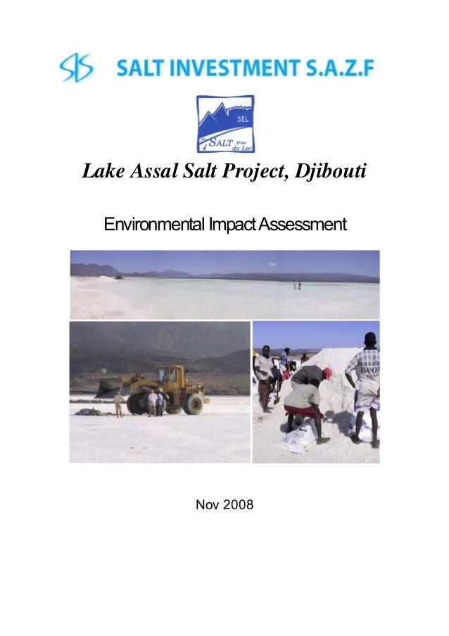 Lake Assal Salt Project, Djibouti Environmental ImpactAssessment Nov 2008