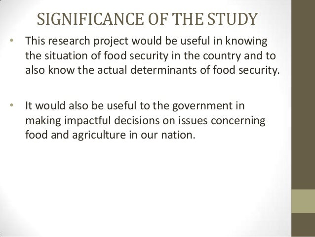 significance of food security