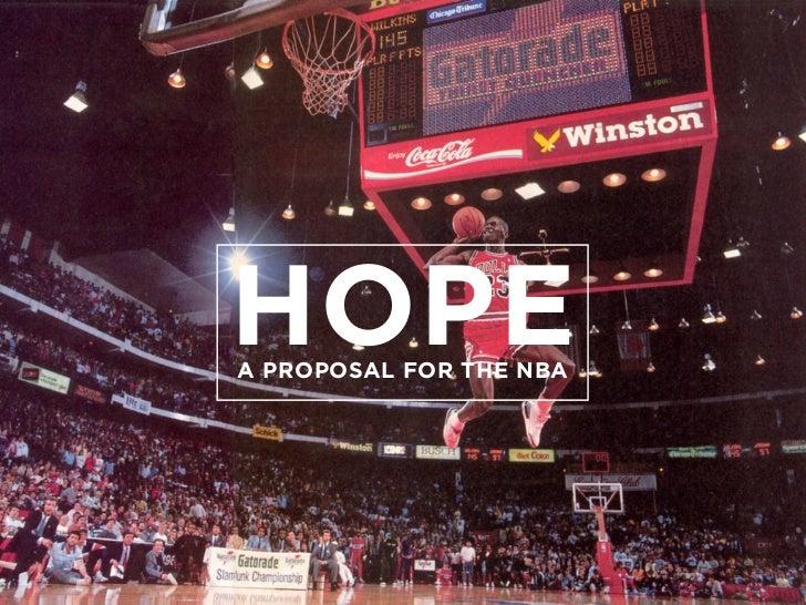 HOPEA PROPOSAL FOR THE NBA