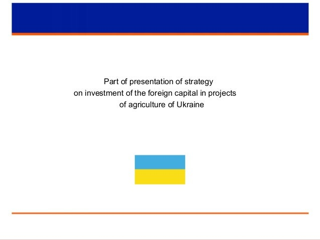 Part of presentation of strategy on investment of the foreign capital in projects of agriculture of Ukraine