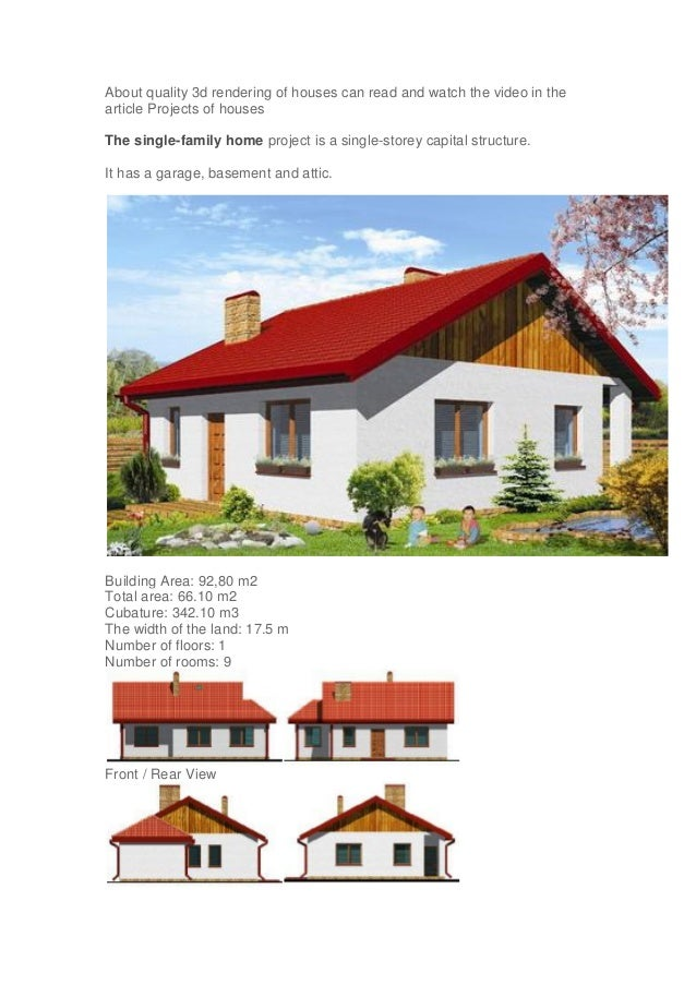 ... House Front Elevation Designs. About Quality 3d Rendering Of Houses Can  Read And Watch The Video In The Article Projects ...