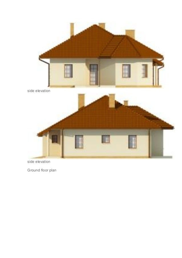 Ground Floor Side Elevation : Projects of small house front elevation designs