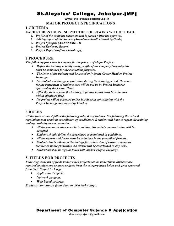 Project specification and synopsis format for Research synopsis template
