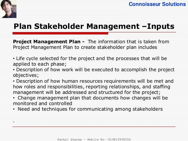 stakeholder management plan The stakeholder management plan template is a simple yet useful it helps you document and manage your project stakeholders throughout the project lifecycle it can be customized by adding or changing column headings to meet the needs of your organiz.
