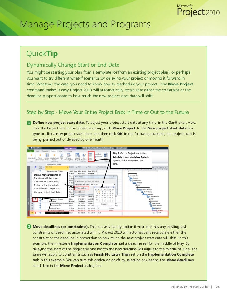 project guide in ms project 2010