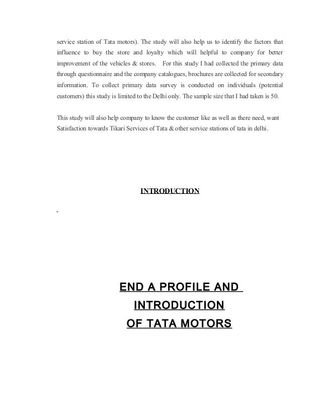 Project summary report on tata motors by bharat goyal