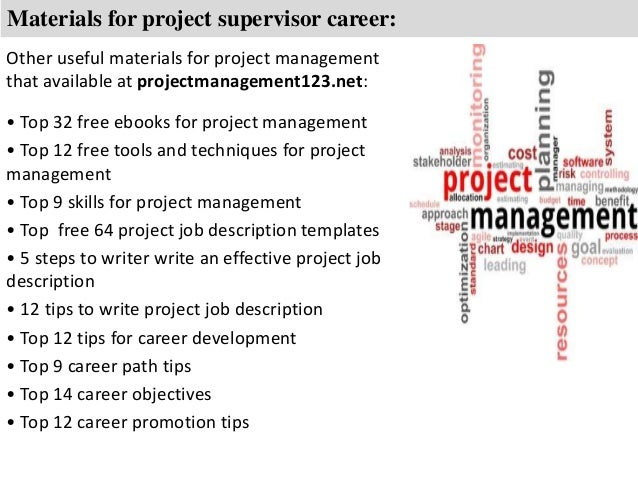 Project supervisor job description – Supervisor Job Description