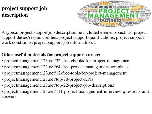 Project support job description