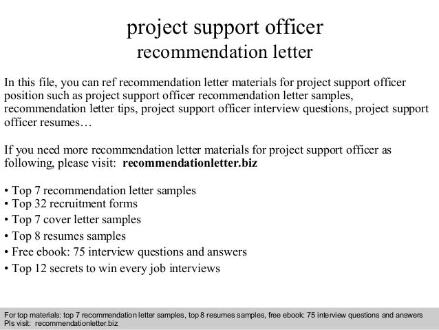 Interview Questions And Answers U2013 Free Download/ Pdf And Ppt File Project  Support Officer Recommendation ...