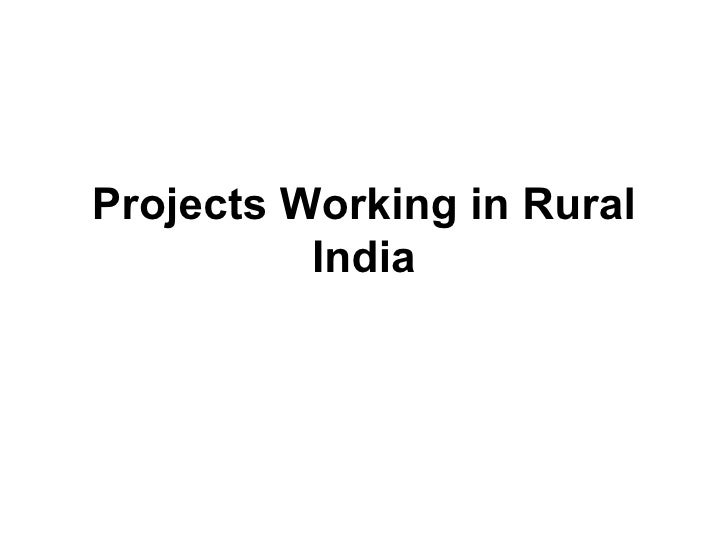 Projects Working in Rural India