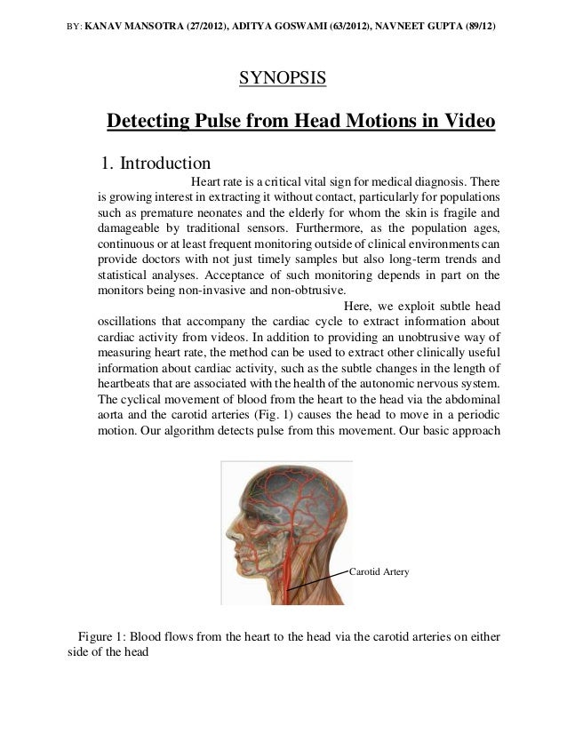 Head Motions Offer Better Way To Detect >> Detecting Pulse From Head Motions