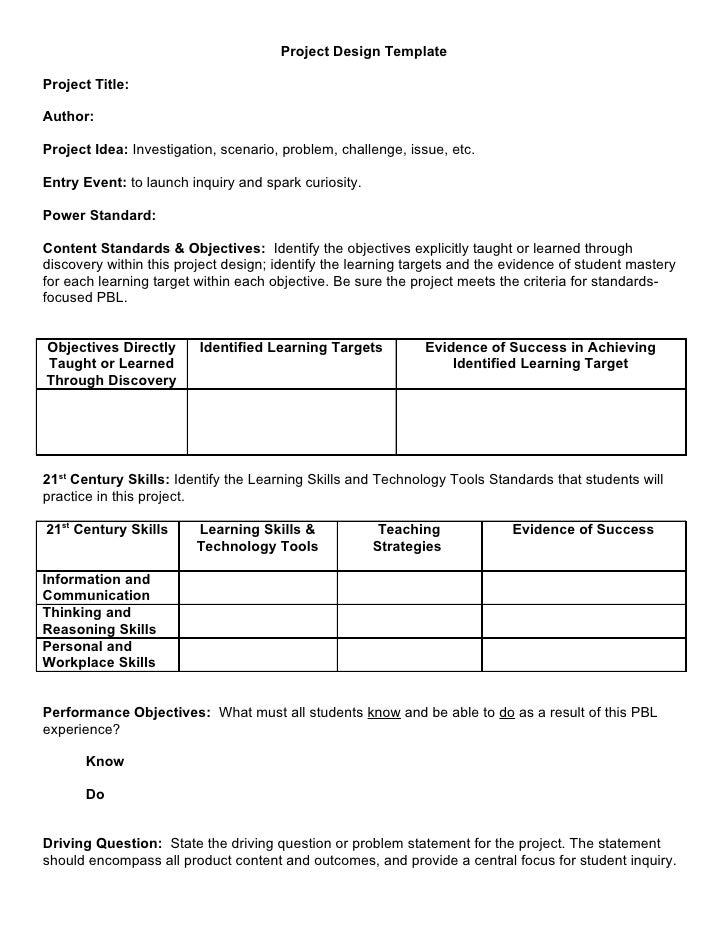 Project Design TemplateProject Title:Author:Project Idea: Investigation, scenario, problem, challenge, issue, etc.Entry Ev...
