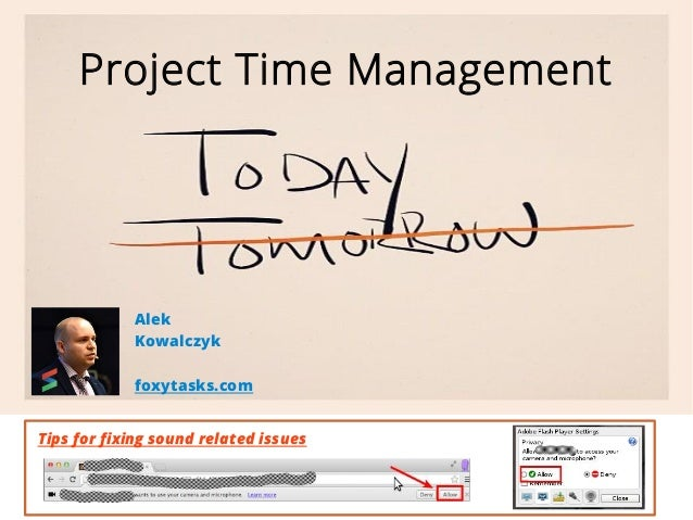 Project Time Management  Alek  Kowalczyk  foxytasks.com  Tips for fixing sound related issues