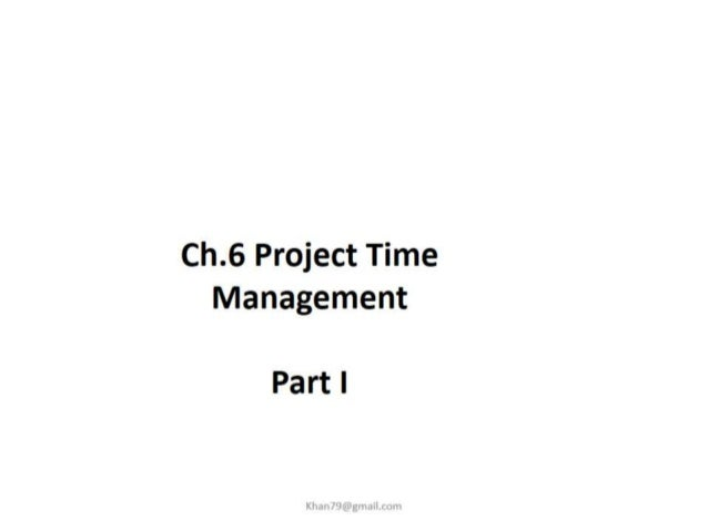Project time management 1 final