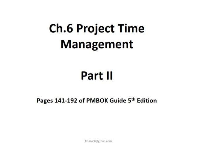 Project time management 2 final