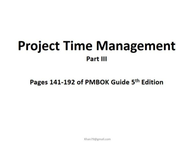 Project time management 3 final