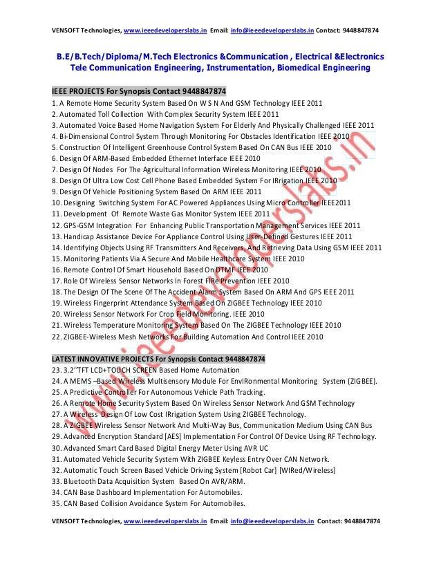 VENSOFT Technologies, www.ieeedeveloperslabs.in Email: info@ieeedeveloperslabs.in Contact: 9448847874 VENSOFT Technologies...
