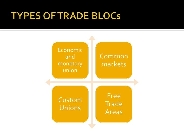 role of trading blocs The formation of trade blocks involves a number of agreements on tariff, trade and tax the activities of trade blocks have huge importance in the economic and political scenarios of the contemporary world over the years trading blocks have played a major role in regulating the trend and pattern of international trade.