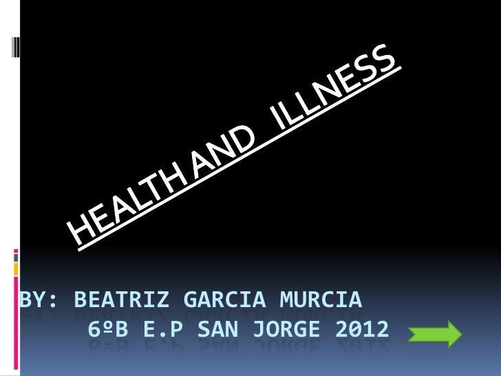 BY: BEATRIZ GARCIA MURCIA     6ºB E.P SAN JORGE 2012