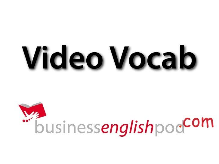 Video Vocab          .com