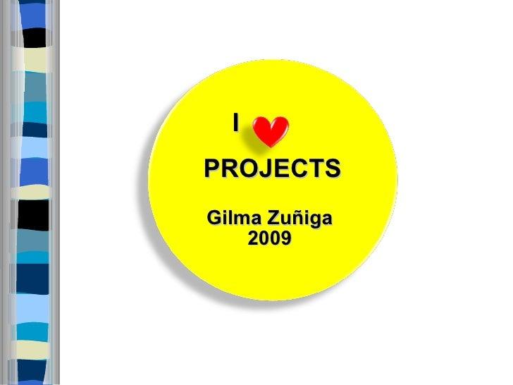 I PROJECTS Gilma Zuñiga  2009