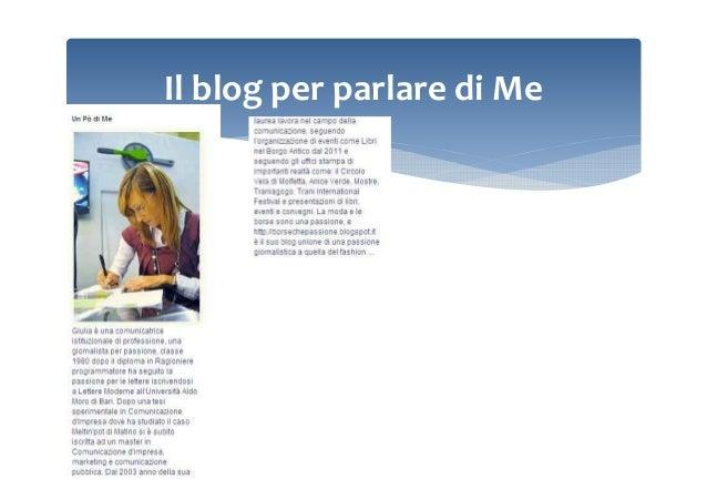 Il blog per parlare di Me