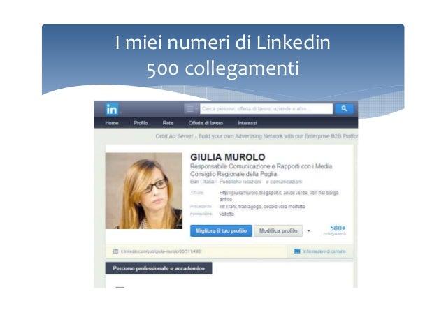 I miei numeri di Linkedin 500 collegamenti
